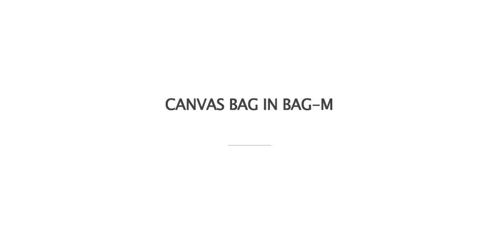 Canvas Bag In Bag-M